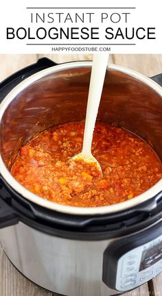 Instant Pot Bolognese Sauce is a quicker version of this classic Italian dinner recipe. No hassle, quicker than on stove top but equally delicious.