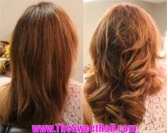 Before and After using the easiest and healthiest hair styler, The Sweet Roll! Roll Hairstyle, Hair Styler, Healthy Hair, Rolls, Long Hair Styles, Sweet, Beauty, Bread Rolls, Long Hair Hairdos