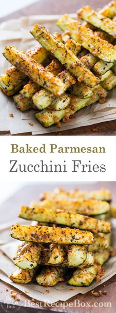 Baked Parmesan Zucchini Fries | @bestrecipebox