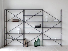 shelving system by ma/u studio love wall art, minimalist furniture, Espace Design, H Design, Shelf Design, House Design, Shelving Systems, Storage Shelving, Office Shelving, Shelf System, Open Shelving