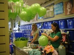 Courtney at the Matthews store keeping the balloons going for Pick, Pop Shamrock last weekend.