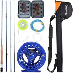 Amazon.com: Sougayilang Saltwater Freshwater Fly Fishing Rod with Reel Combo Kit-Blue: Sports & Outdoors Fishing Kit, Fly Fishing Rods, Fishing Engagement, Fresh Water, Outdoors, Amazon, Sports, Blue, Hs Sports