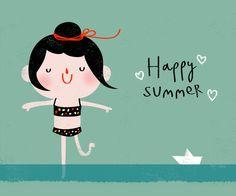 On danse les pieds dans l'eau. Happy summer - Maria Maldonado