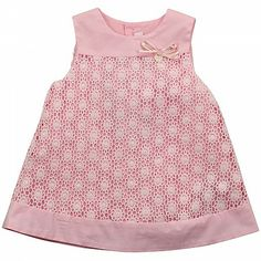Pink Crochet Effect Dress MAYORAL