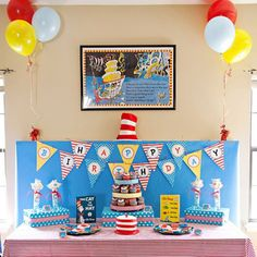 Dr Seuss Inspired Birthday Party Printables Collection