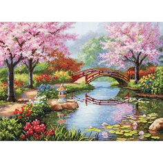 Dimensions Counted Cross Stitch Kit, Japanese Garden