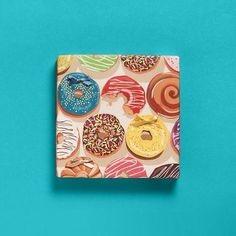 A sweet gift that looks good enough to eat!  Our new Donuts Wrapping Paper.  Warning - may cause cravings! gift wrap, wrap idea, christmas presents, wrap paper, sweet gifts, banquet, papers, donut wrap, wrapping