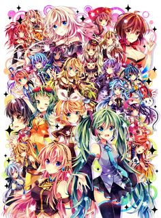 Vocaloid is not an anime.There is no anime called Vocaloid. They aren't real though, most of us know they're holograms but we still love them. Hatsune Miku, Miku Chibi, Kaito, Manga Anime, Manga Girl, Aoki Lapis, Kaai Yuki, Mikuo, Kagamine Rin And Len