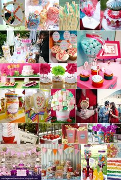 wedding theme - fun fair - candy bar (please visit my blog to view more)