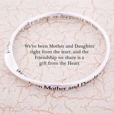 Mother And Daughter Message Bangle from notonthehighstreet.com