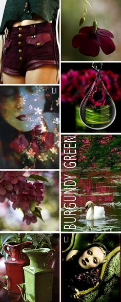 Burgundy + Green, by Lu's Inspiration ღ