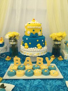 Rubber Duckies Baby Shower Party Ideas | Photo 2 of 14