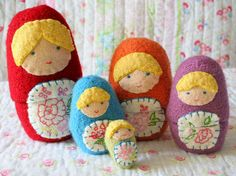Nesting Dolls by Katie Startzman - knitting pattern available on Ravelry