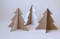 Arbol de Navidad con cartón :)
