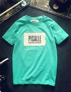 Áo thun PIGALLE màu xanh ngọc - B0806