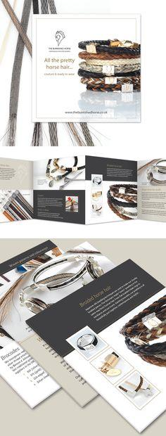 The Burnished Horse brochure promoting beautiful bespoke horse hair jewellery.