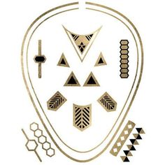 Original Fashiontats Metallic Jewelry Temporary Tattoos - Geometric Necklaces and Rings Sheet ** Click on the image for additional details. (This is an affiliate link and I receive a commission for the sales) #TemporaryTattoos