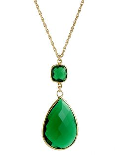 Large Witchy Green Necklace by Peggy Li Creations. Inspired by the Aunt Wendy necklace on Witches of East End.