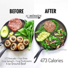 """15 minutes for breakfast, lunch, or dinner - just 5 ingredients, and 1 cast iron pan from — """"👉🏼 Breakdown 473 Calories 34 Protein 10 Carbs Fat 33 - Fibre —— 👉🏼 What you will need Healthy Meal Prep, Healthy Snacks, Healthy Eating, Clean Eating, Healthy High Protein Meals, Paleo Recipes, Cooking Recipes, Pescatarian Recipes, Avocado Recipes"""