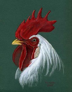 Leghorn Rooster - Painting Art by Pat Latas Rooster Painting, Rooster Art, Tole Painting, Painting & Drawing, Rooster Images, Chicken Painting, Chicken Art, Leghorn Rooster, Chickens And Roosters