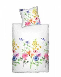 Klassisch aber immer Aktuell die Dormisette Bettwäsche Digitaldruck.mit Blumenmotiv.