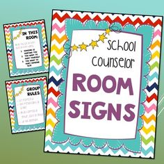Counseling Office Signs-Bright Chevron