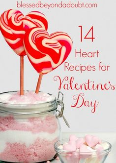 14 Heart Recipes for Valentine's Day! Which one will you try first?