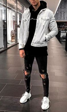 Cool Outfits For Men, Stylish Mens Outfits, Sporty Outfits, Urban Outfits, Mode Outfits, Stylish Clothes For Men, Girl Outfits, Grunge Outfits, Casual Guy Outfits