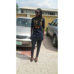 An ankara style with court shoe