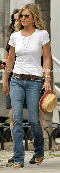 Jennifer Aniston tomboy style casual More