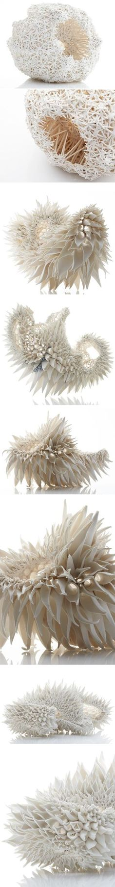 Organic ceramic pieces by Nuala O'Donovan