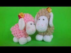 Pecora Amigurumi Tutorial - Sheep Crochet (Eng Sub) Oveja Crochet - YouTube