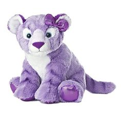 Item Number: 19367 Dimensions: 7.00 x 7.50 x 11.50 inches Aurora World's Girlz Nation Purple Tiger is made with super soft plush and wears a purple shimmer fabric bow on her head. The bottoms of her f