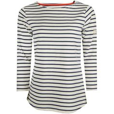 Joules Womens Navy Striped Long Sleeved Top