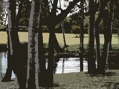 Trees by the pond