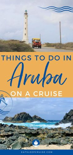 If you are planning a Caribbean cruise vacation, and one of your ports of call is Aruba then here are the best things to do while there. The things to do in Aruba are limited only by your imagination. From taking an island tour, an off-road adventure, to a beach day, and so much more. This guide will help you get the most out of your visit to Aruba! Check out our updated post to help you prepare for your next vacation to this Southern Caribbean port of call. Cruise Excursions, Cruise Destinations, Cruise Vacation, Southern Caribbean, Caribbean Cruise, Best Beach In Aruba, Best Family Cruises, California Lighthouse, Short Cruises