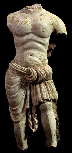Torso of a Guardian  Gandhara 4th - 5th c. stucco 71 cm