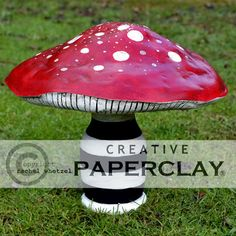Fun Paperclay mushroom project  http://creativepaperclay.blogspot.com/2013/12/caterpillars-mushroom-by-rachel-whetzel.html