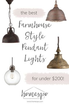 Click through to shop my favorite farmhouse style pendant lights - all are under $200! I'll be using one of these kitchen pendant lights in our new house!