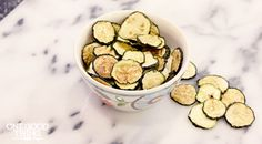 Homemade Oven-Baked Zucchini Chips · One Good Thing by Jillee Bake Zucchini, Zucchini Chips, Healthy Zucchini, Zuchinni Recipes, Paleo Recipes, Cooking Recipes, Healthy Snacks, Healthy Eating, Keto Snacks