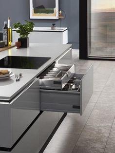 Balham Dove Grey   Howdens Joinery Bathroom Worktops, Kitchen Taps, Kitchen Units, Kitchen Cabinets, Howdens Kitchens, Grey Kitchens, Home Kitchens, Modern Kitchens, Under Sink Drawer