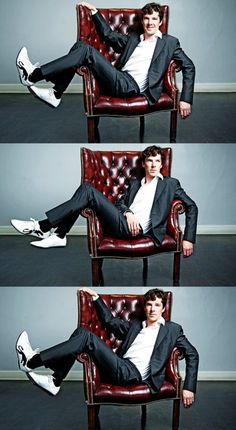 #BenedictCumberbatch nice photos!! =) I love how he's wearing sneakers with a suit.