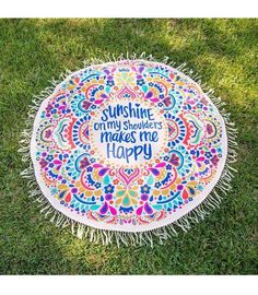 Round Mandala Beach Throw Towel Mat Blanket – Zen Like Products.com