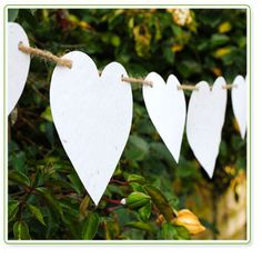 Wildflower Wedding Paper Heart Bunting the gifted penguin - Handmade Wedding, Diy Wedding, Dream Wedding, Recycled Wedding, Wedding Venues, Perfect Wedding, Rustic Wedding, Wedding Ideas, Wedding Bunting
