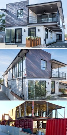 Cargo Container Homes, Shipping Container Home Designs, Shipping Container House Plans, Building A Container Home, Storage Container Homes, Container Buildings, Container Architecture, Container House Design, Small House Design