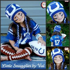 Infant Indianapolis Colts Caps and Booties 4-Piece Set