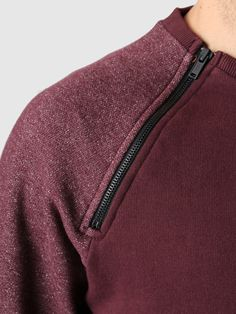 Revolution - Zip Raglan Sweat Bordeaux 2362 | FreshCotton.com