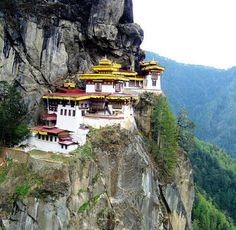 Tigers Nest. Monastry in Bhutan. Very tuff to get there on the mountain.