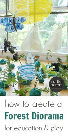 Create a forest diorama with playdough and nature items as a way for children to learn about forest ecosystems around the world. Great for pretend play, too Rules For Kids, Art For Kids, Crafts For Kids, Shoe Box Diorama, Forest Ecosystem, School Age Activities, Forest Habitat, Girls Dollhouse, Evergreen Forest