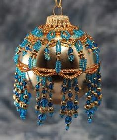Image result for Free Beaded Ornament Covers Tutorial